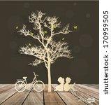 vector decorative wall stickers ... | Shutterstock .eps vector #170959505