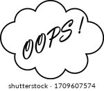 word oops in a cloud isolated...   Shutterstock .eps vector #1709607574