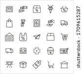 simple set of commerce icons in ... | Shutterstock .eps vector #1709615287