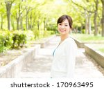 young sporty asian woman... | Shutterstock . vector #170963495