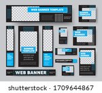 template of black web banners ... | Shutterstock .eps vector #1709644867