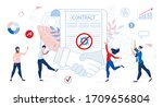 successful contract agreement... | Shutterstock .eps vector #1709656804
