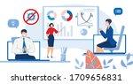 businesspeople online... | Shutterstock .eps vector #1709656831