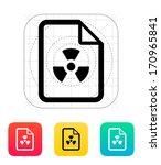 dangerous file icon. vector...