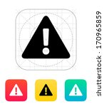 security warning icon. vector...