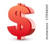 Red Dollar Symbol Isolated...