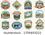 outdoor adventure patch with... | Shutterstock .eps vector #1709693221