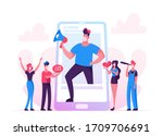 blogging  social media... | Shutterstock .eps vector #1709706691