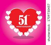51 year anniversary  vector...   Shutterstock .eps vector #1709730457