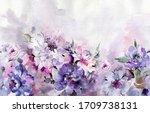 Beautiful Peony Flowers With...