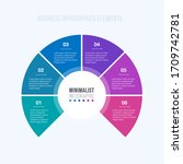 circle chart infographic...   Shutterstock .eps vector #1709742781