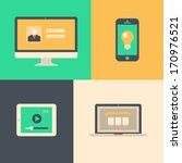 user interface on digital... | Shutterstock .eps vector #170976521