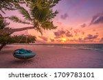 Tropical Sunset Beach And Sky...