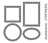 greek key border frame round ... | Shutterstock .eps vector #1709796391