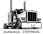 semi trailer truck isolated on...   Shutterstock .eps vector #1709798101