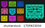 mexican day of dead  papel... | Shutterstock .eps vector #1709823034