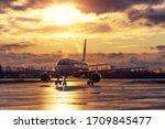 Passenger Aircraft Taxiing...