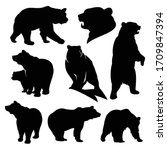 wild grizzly and brown bear...   Shutterstock .eps vector #1709847394