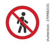 No Walk Vector Icon Access For...