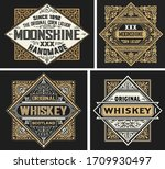 set of 4 vintage labels. vector ... | Shutterstock .eps vector #1709930497