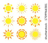 sun icon set. elements for... | Shutterstock .eps vector #1709966581