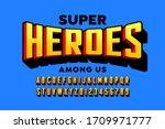 comics super hero style font...   Shutterstock .eps vector #1709971777