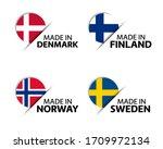 set of four danish  finnish ... | Shutterstock .eps vector #1709972134