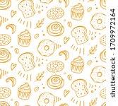 pastry  sweet bakery seamless...   Shutterstock .eps vector #1709972164