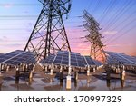 photovoltaic solar and power... | Shutterstock . vector #170997329
