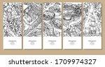 hand drawn 5 steps of vietnamse ... | Shutterstock .eps vector #1709974327