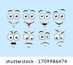 artoon comic faces. smile face ... | Shutterstock .eps vector #1709986474