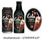 vector label for cola in retro...   Shutterstock .eps vector #1709999137