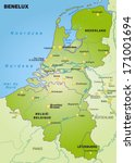 map of benelux as an overview... | Shutterstock . vector #171001694