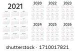calendar 2021  2022  2023  2024 ...   Shutterstock .eps vector #1710017821