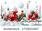 winter wonderland christmas... | Shutterstock .eps vector #1710021067
