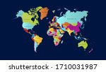 world map color vector modern | Shutterstock .eps vector #1710031987