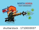 north corea fight coronavirus ... | Shutterstock .eps vector #1710033037