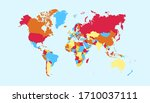 world map color vector modern | Shutterstock .eps vector #1710037111