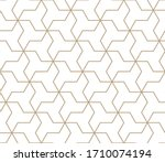 seamless geometric gold pattern.... | Shutterstock .eps vector #1710074194