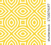 vector yellow geometric pattern.... | Shutterstock .eps vector #1710074197
