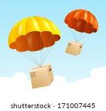 Vector Parachute Background....