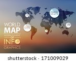 polygonal world map and... | Shutterstock .eps vector #171009029