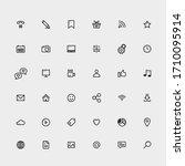 web icons set. site element... | Shutterstock .eps vector #1710095914