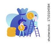 vector illustration  character... | Shutterstock .eps vector #1710104584