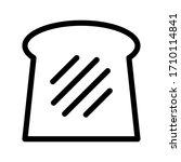 Bread Vector Icon On White...