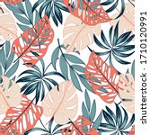 fashionable seamless tropical... | Shutterstock .eps vector #1710120991