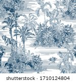 toile engraving tropical... | Shutterstock .eps vector #1710124804