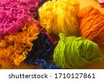 colored yarn for knitting and... | Shutterstock . vector #1710127861