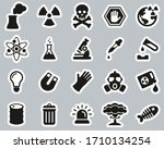 nuclear power plant icons black ... | Shutterstock .eps vector #1710134254