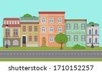 urban landscape. retro.... | Shutterstock .eps vector #1710152257
